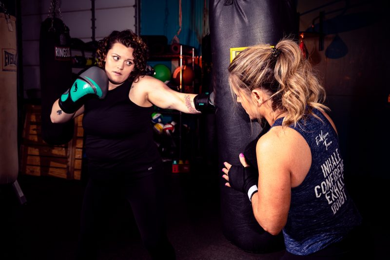 Theresa and her sparring partner and daughter Alyssa. Alyssa now trains at EnVision Train!